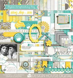 A fun blog hop by Design House Digital where you can collect the parts of this kit free