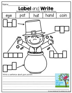 Label and Write about the picture! TONS of great printables!