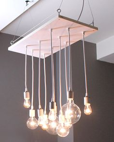Small Urban Whitewash Chandelier with porcelain от urbanchandy