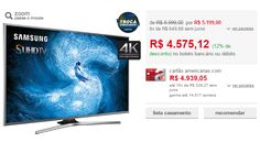 "Smart TV Samsung Nano Cristal 60"" 60JS7200 Ultra HD 4k 4 HDMI 3 USB Wi-Fi Função Games Quad Core << R$ 457512 >>"
