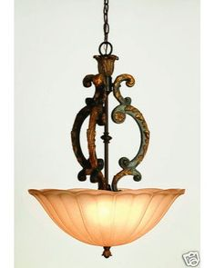 Trans Globe 3823 AAM Three Light Pendant Chandelier in Antique Amber Finish | Quality Discount Lighting