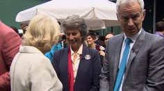 Wimbledon 2013: John McEnroe left hanging by royal handshake. |  John McEnroe is mocked by his fellow BBC pundits after trying to shake hands with the Duchess of Cornwall while she was still in conversation with Virginia Wade.