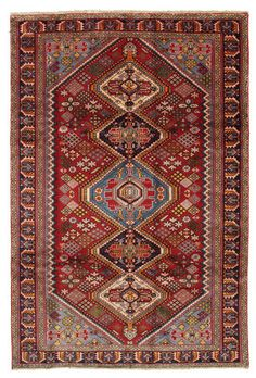 Joshaghan carpet EXV241 297x197cm. This carpet is knotted in the town of Joshaghan in central Iran. The town is known for its famous carpet weaving traditions, old style weaving, interesting designs and the fast and limpid colours. £1032