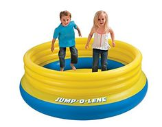 """Intex Jump-O-Lene Inflatable Bouncer, 80"""" x 27"""", for Ages 3-6, Colors May Vary"""