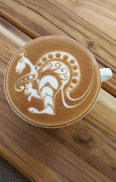 Kangaroo Latte Art
