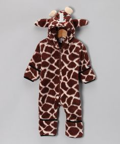 Brown Giraffe Cuddle Bunting - Infant by Sozo on #zulily