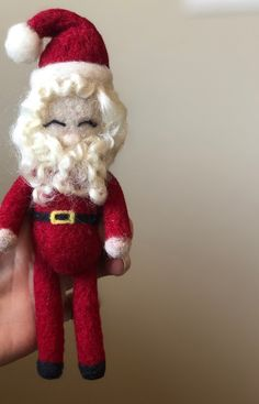 Excited to share the latest addition to my #etsy shop: #Felt #SantaClaus, Needle Felt Santa, #NewbornPhotography, #Wool #Santa, Newborn Photo Prop, Christmas Stuffy, Christmas Prop, Cotswold Sheep #christmas #feltchristmasprops #santalovie #newbornsanta #woolprops #santaclausstuffy #needlefeltsanta #woolsanta