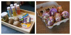 Easter Craft For Kids:  DIY Fancy Eggs