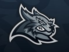 """Wes """"Wolf"""" Mascot designed by Mike. Connect with them on Dribbble; Logo Esport, Dog Logo, Husky Logo, Panther Logo, Chiefs Logo, Baseball Mascots, Sports Team Logos, Game Logo Design, Esports Logo"""