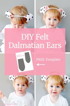 DIY Felt Dalmatian Ears. The perfect simple craft with your toddler! Click through for the template!