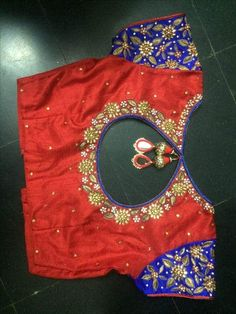20 Latest Saree Blouse Designs for Stylish Look - ArtsyCraftsyDad Wedding Saree Blouse Designs, Silk Saree Blouse Designs, Blouse Neck Designs, Sari Blouse, Hand Work Blouse Design, Simple Blouse Designs, Simple Designs, Maggam Work Designs, Designer Blouse Patterns