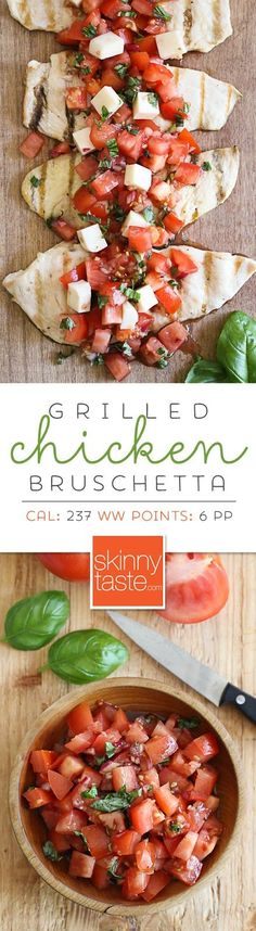 Chicken Bruschetta Grilled Chicken Bruschetta – a delicious, light summer dish!Grilled Chicken Bruschetta – a delicious, light summer dish! Bruschetta Chicken, Grilled Chicken, Bruschetta Recipe, Grilled Calamari, Healthy Recipes, Cooking Recipes, Summer Dishes, I Love Food, Food For Thought