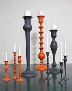 wooden Candlesticks turned in cool modern and romantic shapes