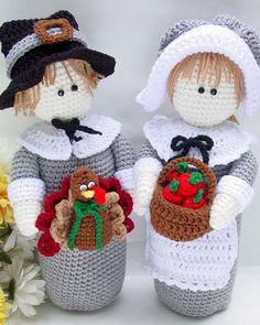 Thanksgiving bottle toppers crochet