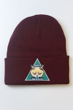3ac7215b5029a Alison Rose · Products · Don t be a D ck Maroon Beanie