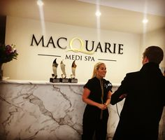 Being interviewed by channel nine news for our world luxury spa  awards! www.macquariemedispa.com