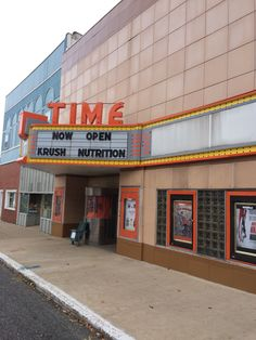 The Historic Time theater has now become a Gym!  Jacksonville, IL 2014