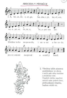 Písnička: Abeceda v písničce | Výtvarná výchova Kids Songs, Sheet Music, Teaching, Education, Children, School, Musica, Carnival, Children Songs