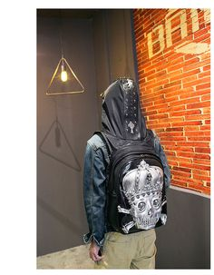 Now Available on our store: 3D Golden Skull B... check it out here http://100percenthood.biz/products/3d-golden-skull-backpack-with-hood-cap?utm_campaign=social_autopilot&utm_source=pin&utm_medium=pin