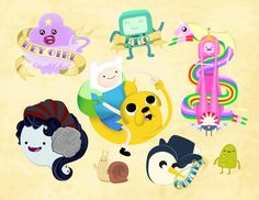 Adventure Time Tattoo Flash by Nick Knight