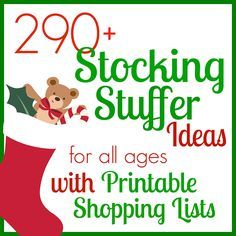 Still looking for Christmas stocking stuffers? Check out my printable list of ideas! There is something for everyone - baby, toddler, preschooler, elementary, middle school, high school, adult women, and adult men. Easy to print off and take with you when you go shopping or just shop online!