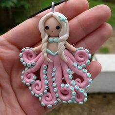 Handmade Polymer clay Octopus tentacle by PolarBearsAndTenebre: