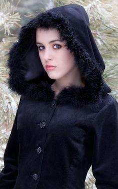 402c9f03274 Anastasia Coat Hooded velvet coat with by TheDarkAngelDesignCo