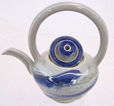One of a Kind Hand Thrown Stoneware Teapot in Cobalt Blue by ellisonbaypottery, $150.00. Holds about  cups and the heat. Perfectly balanced to pur easily. This is a must have for the upcoming winter months and makes a great gift.
