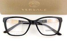 4251519c06e Brand New VERSACE Eyeglass Frames 3192B GB1 for Women BLACK 100% Authentic  SZ 54 8053672256000
