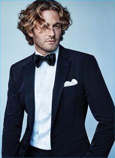Brad Kroenig wears pocket square BOSS Hugo Boss, all clothes and tie Ralph Lauren.