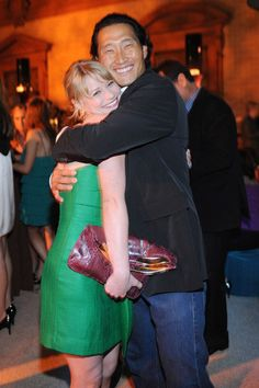 Emilie de Ravin gets a big hug from Daniel Dae Kim at Entertainment Weekly's 6th annual Pre-Emmy Party, honoring the 2008 Emmy nominees on September 20, 2008 in Beverly Hills, California.