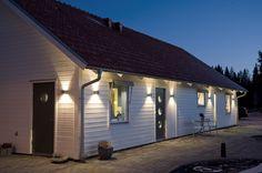Villa Nystuga - Vårt lågenergihus på landet: Ljussättning, del 6 - Fasadbelysning