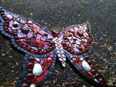 Butterfly in Red 3 - Mosaic by Fiddlekate (Katie Waller), via Flickr