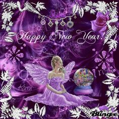 purple happy new year purple new year fairy for pixie dust blingsters group tags fairy