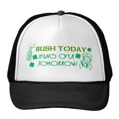 =>>Save on          	Irish Today Hungover Tomorrow Mesh Hat           	Irish Today Hungover Tomorrow Mesh Hat you will get best price offer lowest prices or diccount couponeHow to          	Irish Today Hungover Tomorrow Mesh Hat Online Secure Check out Quick and Easy...Cleck See More >>> http://www.zazzle.com/irish_today_hungover_tomorrow_mesh_hat-148331281340397334?rf=238627982471231924&zbar=1&tc=terrest