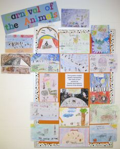 creating posters representing ideas of new animals for camille saint-saens's carnival of the animals.