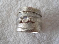 My favorite kind of jewelries are chunky, artistic, organic, and rustic silver thingys....Silver stone RING Sterling silver jewelry Handmade by bgezunt