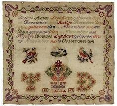 A 19th Century Dutch Sampler Stitched By Trijntje Douwes Ligthart & Dated 1867 ~ Fries Museum