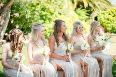 Beachy boho #bridesmaid dresses