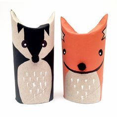 Share your love of toilet roll crafts by making cute woodland characters - a fox and badger with us! It's a simple (and cute) family activity to make with your kids.