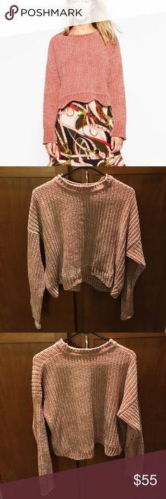 Zara Cropped Plush Sweater Zara Cropped Plush Sweater - NEVER WORN Zara Sweaters