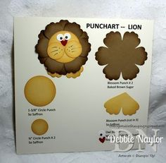 punch art LION Stampin Up, Sihouette Cameo