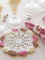 Ice Cream Cone Doily & Napkin Ring  http://www.free-crochet.com/list.html?cat_id=30