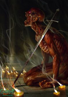 View an image titled 'Kiyan Art' in our Gwent: The Witcher Card Game art gallery featuring official character designs, concept art, and promo pictures. Witcher Art, The Witcher, Dark Fantasy Art, Fantasy Artwork, Witcher Monsters, Dungeons And Dragons, Arte Dark Souls, Creepy Art, Monster Art