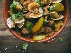 Carne de porco à alentejana - Saudades de Portugal
