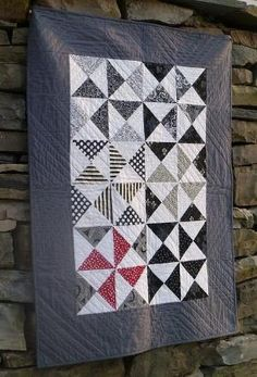 Black and White quilt by may