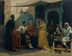"""""""An image of Great Britain in Egypt"""" (1886) by Walter Horsley - note comparison with """"The French in Egypt (1800)"""" by the same artist at a similar date..."""