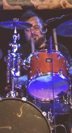 Sam the drummer of FSX Fiddlestix! Photo found in friend's photo collection.