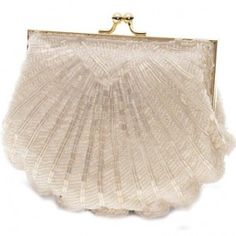 Victoria seashell clutch, vintage inspired clutch handbag, classy, elegant bridal accessory. $28.00 Embellished with intricate beading in a sophisticated pattern that shimmers when it catches the light.