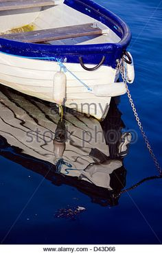 Small boat on the sea on The Solent at Emsworth, UK - Stock Image